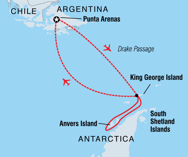 Image of Antarctic Express: Fly the Drake from Punta Arenas