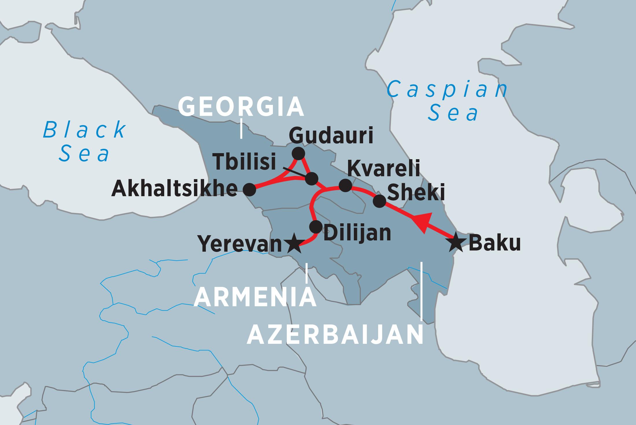 Explore Azerbaijan, Georgia & Armenia