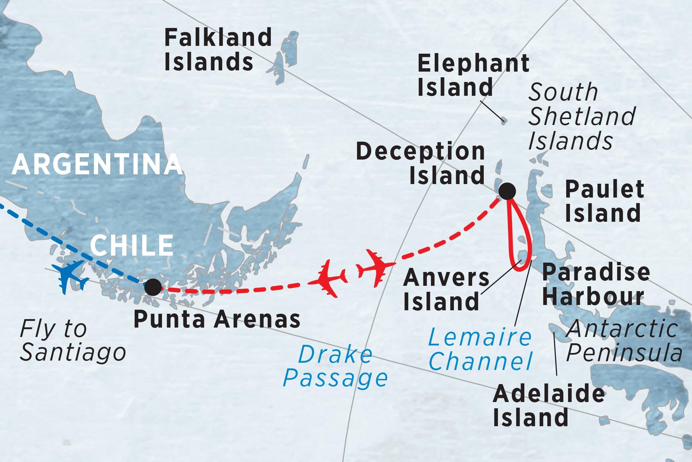 Antarctic Express - Fly the Drake (Island Sky ) 2017 - 2018