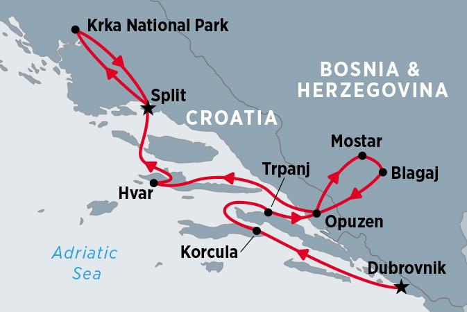 Croatia Coastal Cruising - Dubrovnik to Split