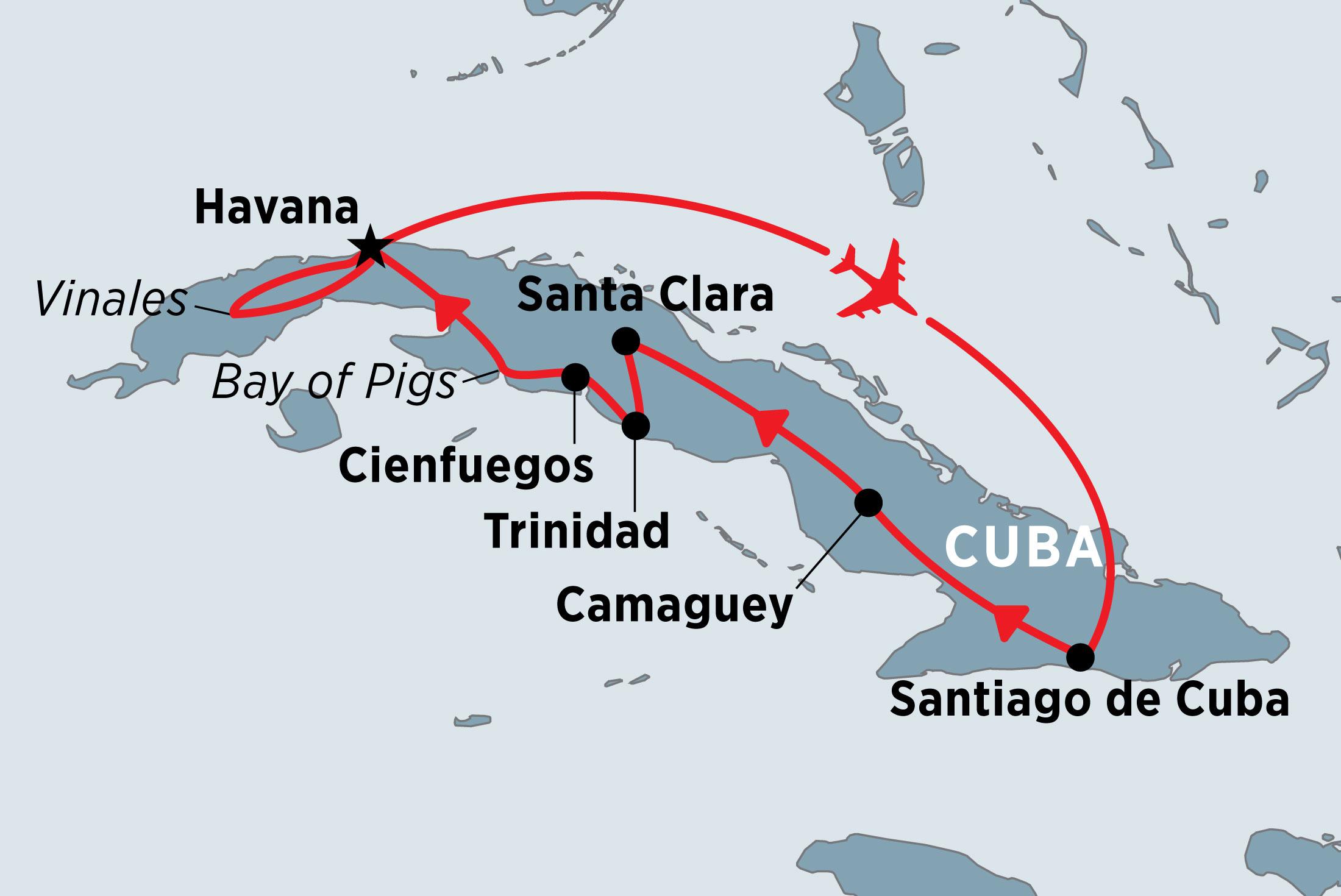 Cuba Highlights Map