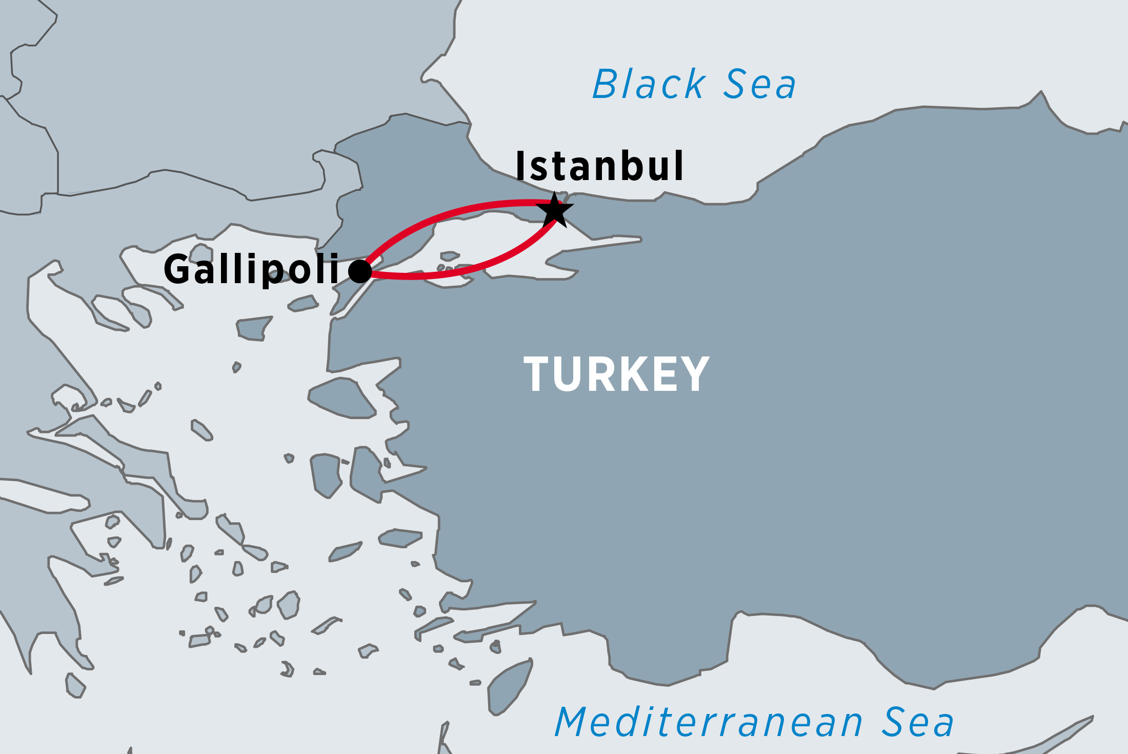 Istanbul & Gallipoli Battlefields Experience - Independent Map